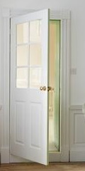 6 panel grained 6 light glazed door